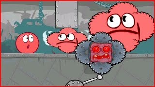 Новый Босс - Пила, в игре про красный шарик. видео про Red ball 4 для детей