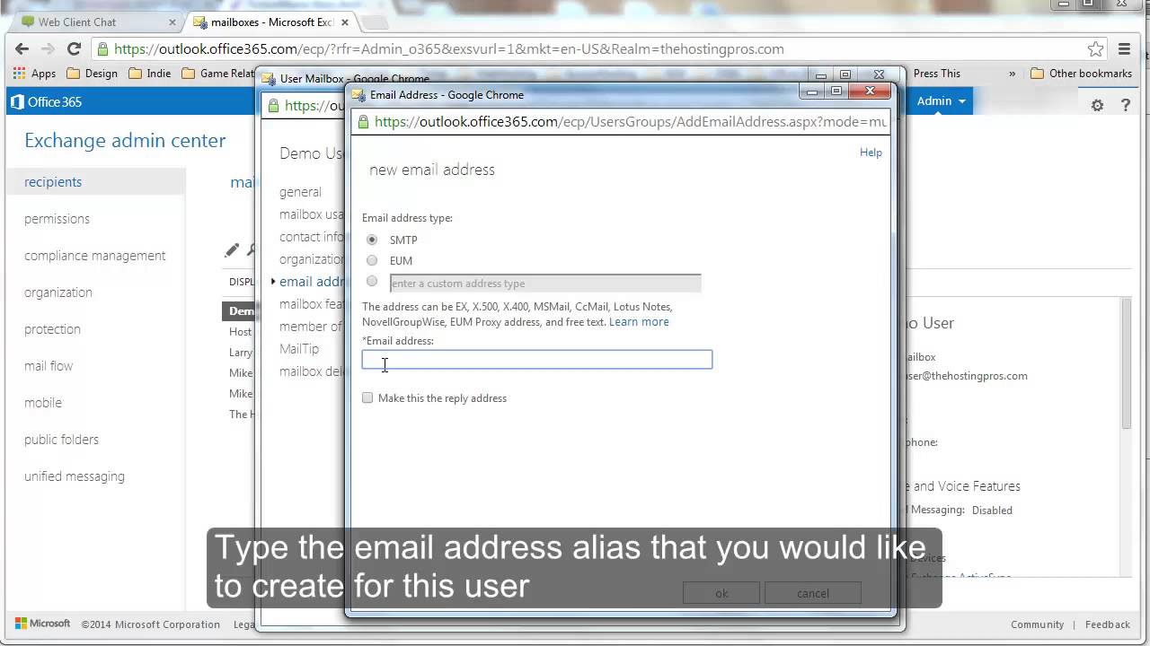 Create unlimited exchange email aliases on Microsoft Office 365 ...