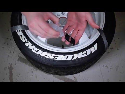 Applicera däcktexter - Däckdesign