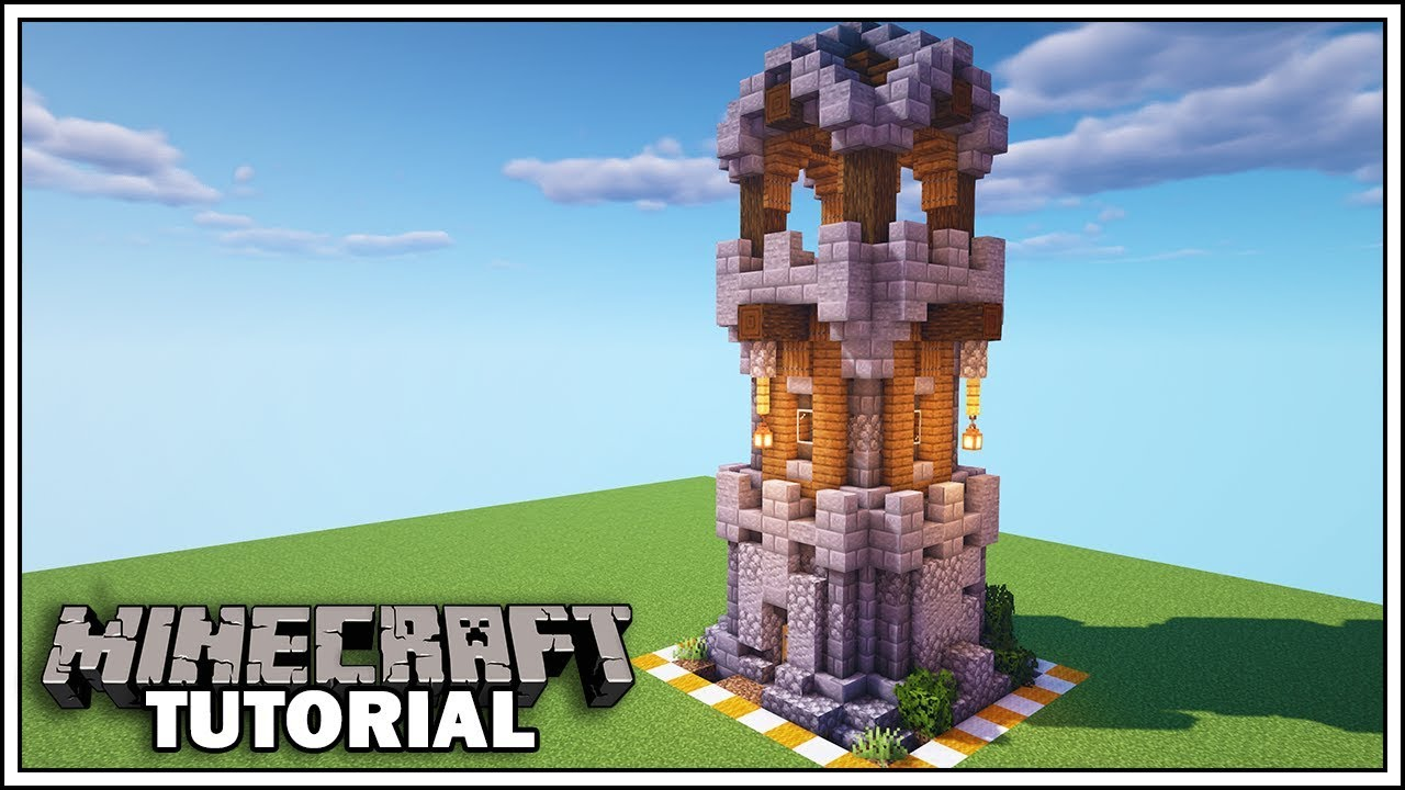 Minecraft 8x8 Enchanting Tower How To Build Youtube