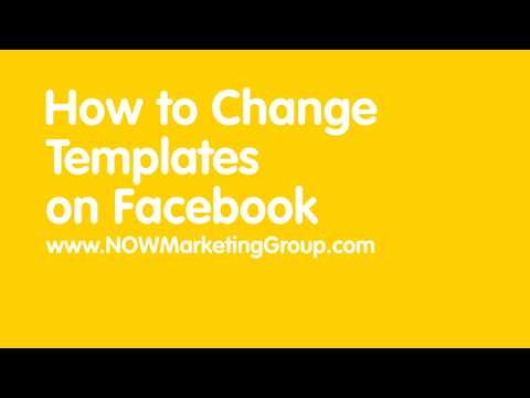 How to change your facebook tabs or template on business pages youtube how to change your facebook tabs or template on business pages flashek Image collections