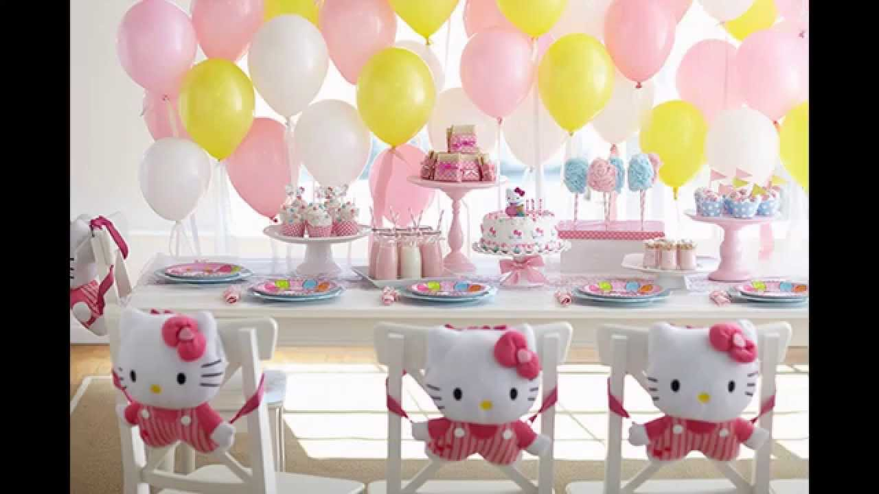 Stunning Hello kitty birthday party decoration ideas YouTube