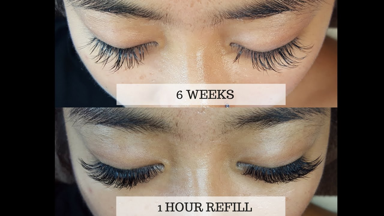e9dcd461dbf LASH EXTENSIONS: 6wks UPDATE AND REFILL - YouTube