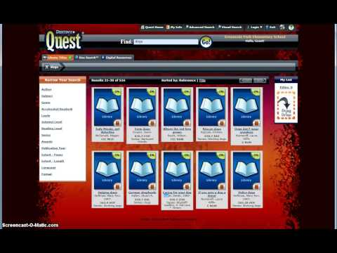 How to use Destiny Quest at Greenvale Park Elementary School