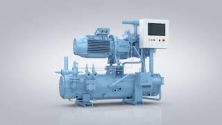 GEA Grasso M Screw Compressor Unit for Industrial Refrigeration
