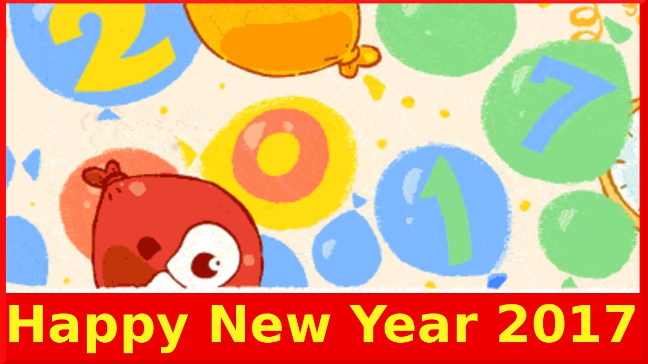 new years day 2017 google doodle wish you all happy new year 2017 qpt youtube