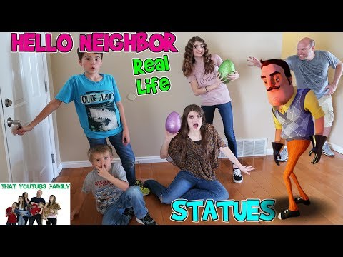 Thumbnail: HELLO NEIGHBOR REAL LIFE STATUES / That YouTub3 Family