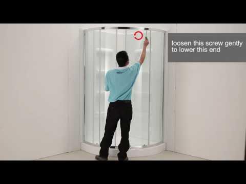 How To Adjust The Round Shower Door Youtube