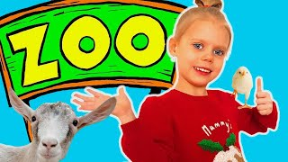 Learn zoo animals names for children | Educational video for kids with Vitalina life | Contact zoo
