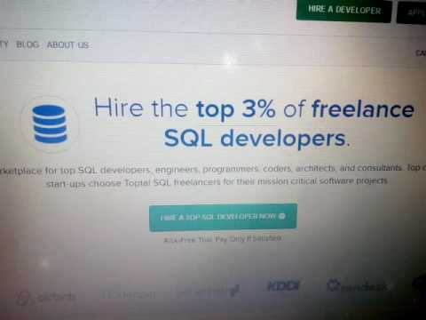 Hire the top 3% of freelance sql developers