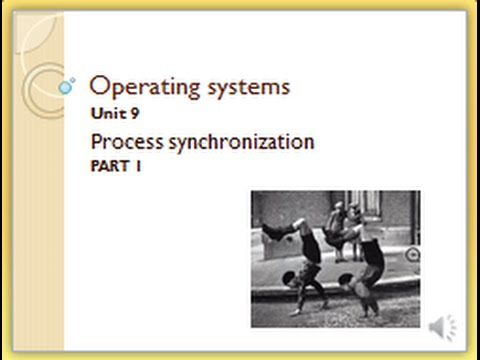 MODULE 9 VIDEO 1 - synchronization with semaphores