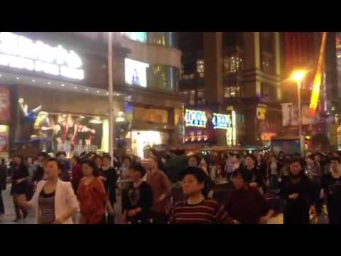 Square dance at People Square, shanghai , china