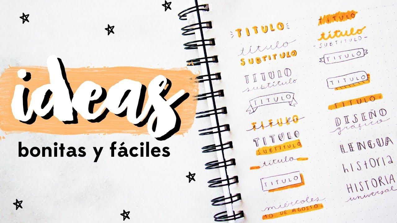 CÓMO HACER TÍTULOS BONITOS PARA DECORAR TUS APUNTES! IDEAS FÁCILES Y ...