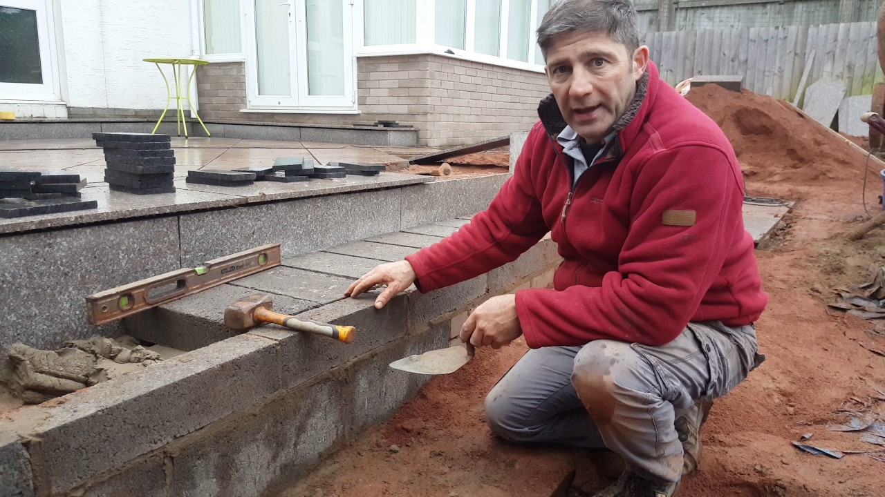 how to build patio steps