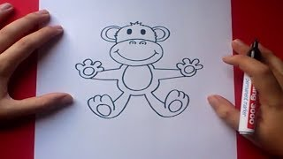 Como dibujar un mono paso a paso 3 | How to draw a monkey 3