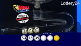 2017 07 04 Mega Millions Numbers and draw results