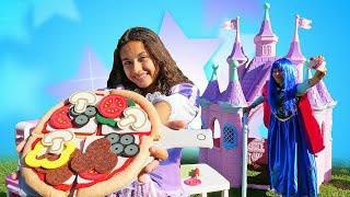 Смешные видео для детей - Принцессы Дисней готовят Пиццу! - Новые игры для девочек.