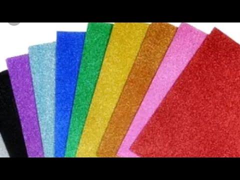 {DIY} 3 best ideas of craft glitter foam sheet make beautiful creation by the glitter paper