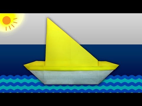 Sailboat Origami | Origami Boat | How To Make Sailboat | Paper Boat Making | Popular Craft