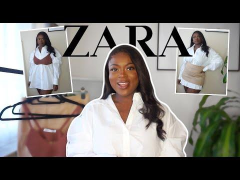 MINI SUSTAINABLE FASHION STYLING HAUL Ft ZARA | Curvy || Andrea Manful