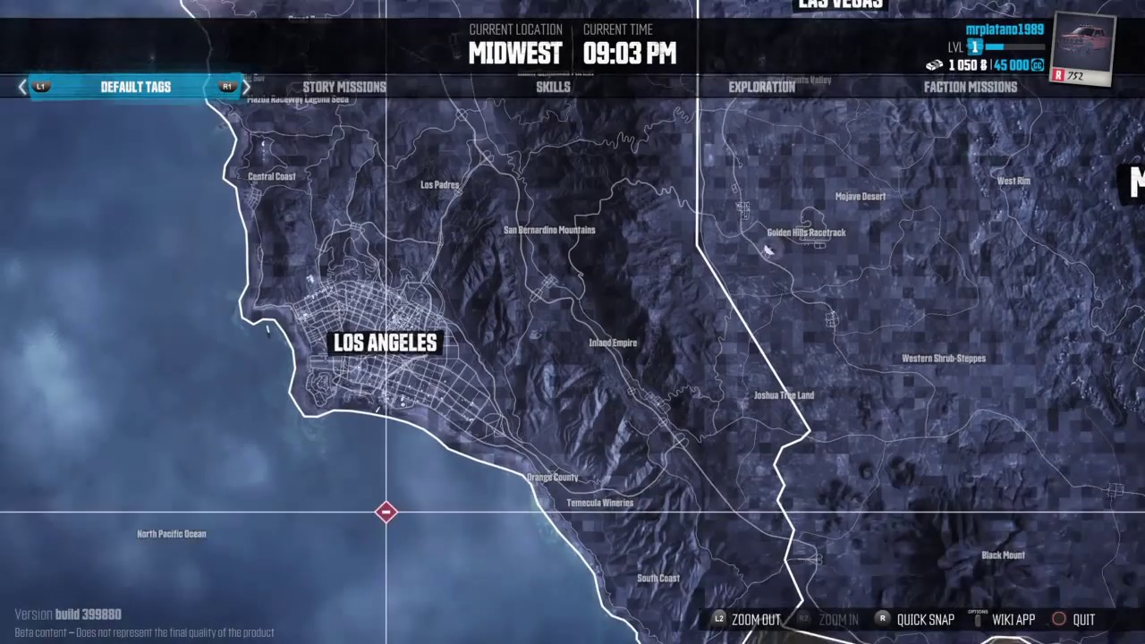 The Crew - United States World Map & Major Cities - Open World Racer - PS4  - HD
