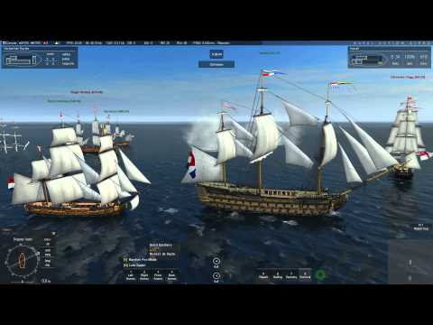 Naval Action battle Dutch Fleet vs Great Britain NPC