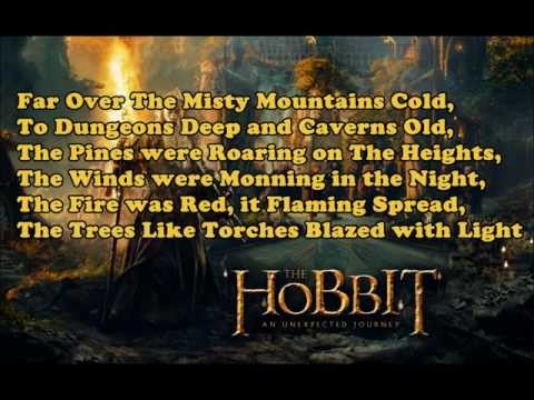 The Hobbit Theme Song - Misty Mountains Cold(Lyrics)