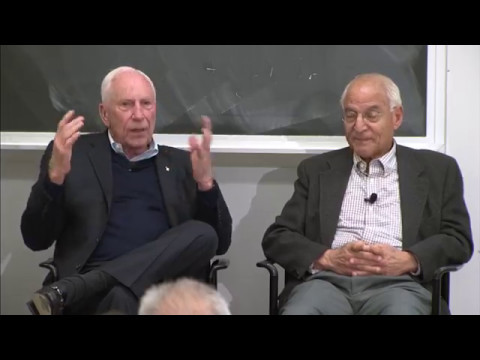 Apollo 15's Al Worden and mission planner Farouk El Baz visit MIT AeroAstro, April 2017