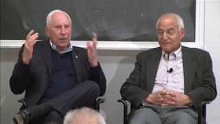 Apollo 15's Al Worden and mission planner Farouk El Baz visit MIT AeroAstro, April 2017