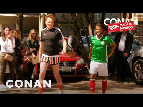 Conan Plays Fùtbol With Giovani Dos Santos