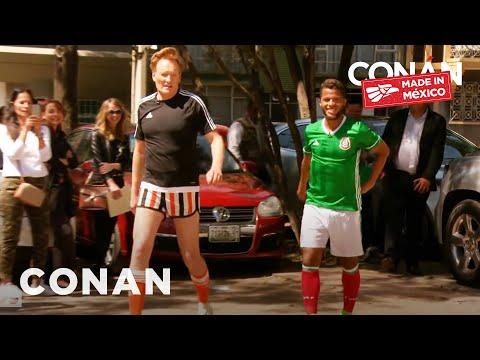 Conan Plays Fùtbol With Giovani Dos Santos