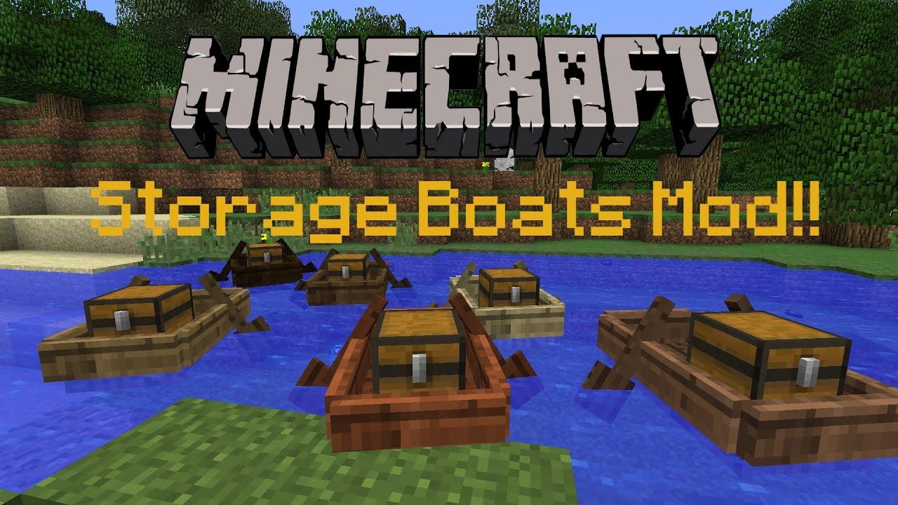 Minecraft 1 11 2 : Storage Boats Mod! | Mod Review!