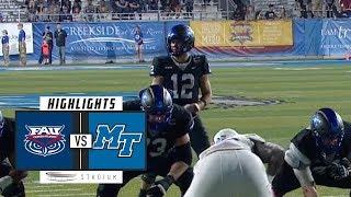 FAU vs. Middle Tennessee Football Highlights (2018) | Stadium