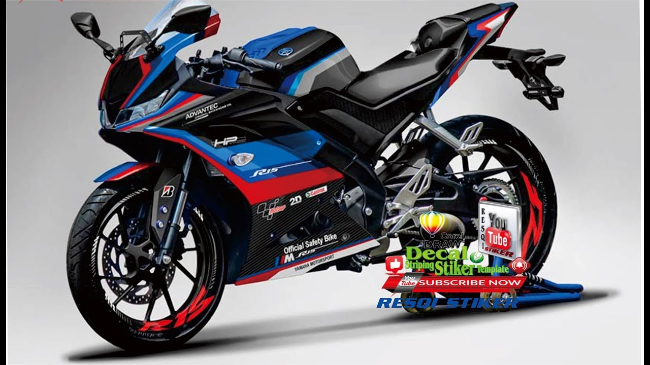 Download Template Declas Motorcycle Yamaha R15 file cdr