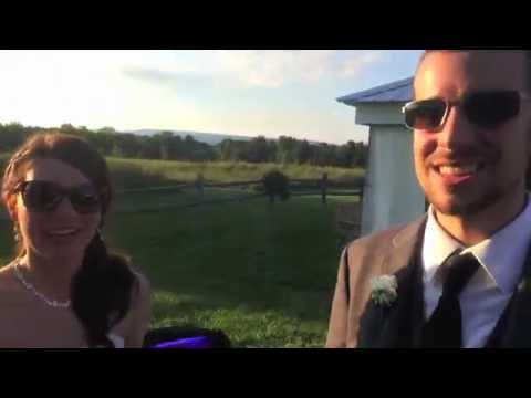 Groom sees color for the first time with EnChroma Glasses! Surprise wedding gift!
