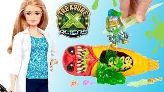Treasure X Aliens Slime  Barbie naukowiec  bajka po polsku • Toys Land