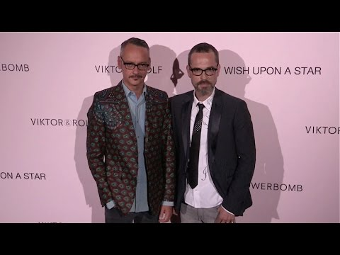 Viktor Horsting and Rolf Snoeren at the Photocall of Viktor&Rolf Party in Paris