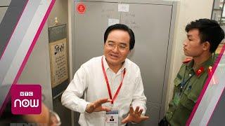 Bộ trưởng Phùng Xuân Nhạ kiểm tra điểm thi Long An