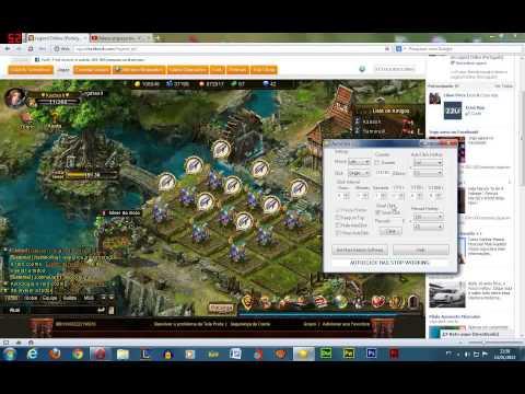 Legend Online - Usando  AutoClick 2.2 na fazenda