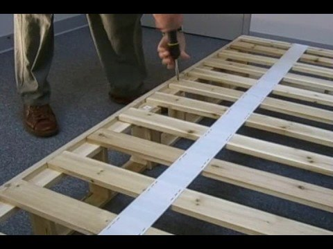 Wooden Bed Frame With Box Springs