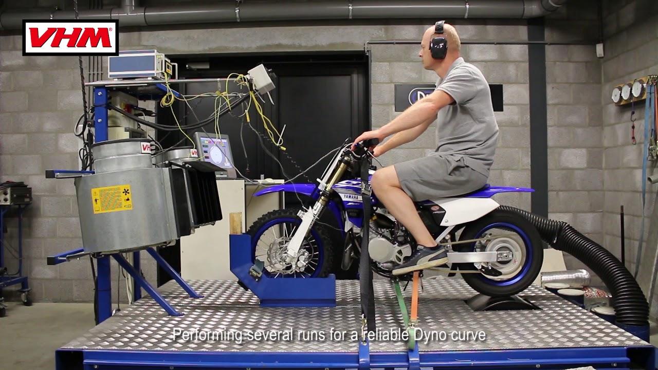 Yamaha YZ65 2018 Dyno test with VHM cylinder head full