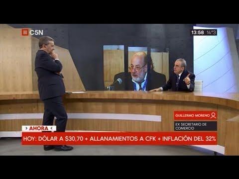 Guillermo Moreno con Fernadez Llorente C5N 22/08/18