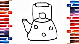 Drawing for Kids How to Draw Teapot Coloring Pages and other pictures for Childrens