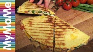 Кесадилья с курицей, сыром и помидором - хит мексиканской кухни за 90 секунд