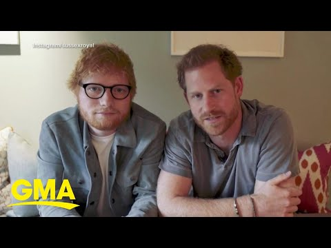 Prince Harry and Ed Sheeran team up for World Mental Health Day l GMA thumbnail