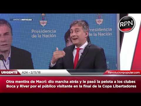 *URGENTE* Otra mentira de Macri: dio marcha atrás con el público visitante en Boca-River
