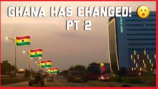GHANA HAS CHANGED PT2   NIGHT RIDE THROUGH ACCRA  GHANAIAN YOUTUBER