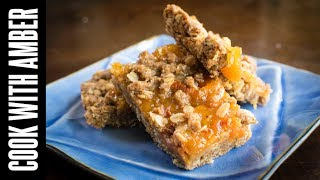 How to Make Peach Oat Bars | Cook With Amber