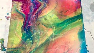 (189) Golden Color Pouŗing Medium - Flip Cup No Silicone - Fluid Acrylic Paint Pouring - Flow Art