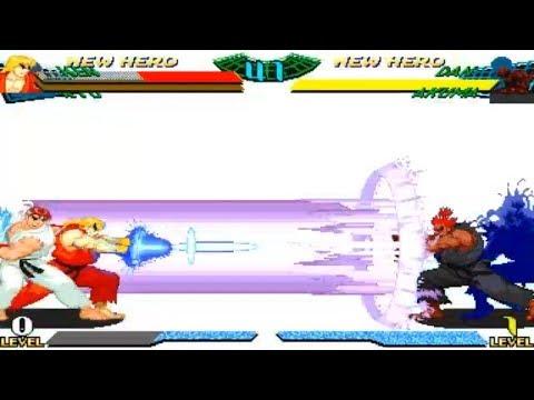 [TAS] Ryu/Ken VS Dan/Akuma (Marvel Super Heroes Vs. Street Fighter)